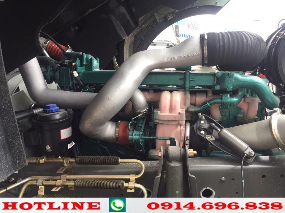 động cơ xe howo 375 nóc thấp cầu dầu
