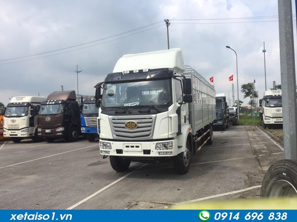 xe tải faw 2 chân thùng dài 9.8 mét