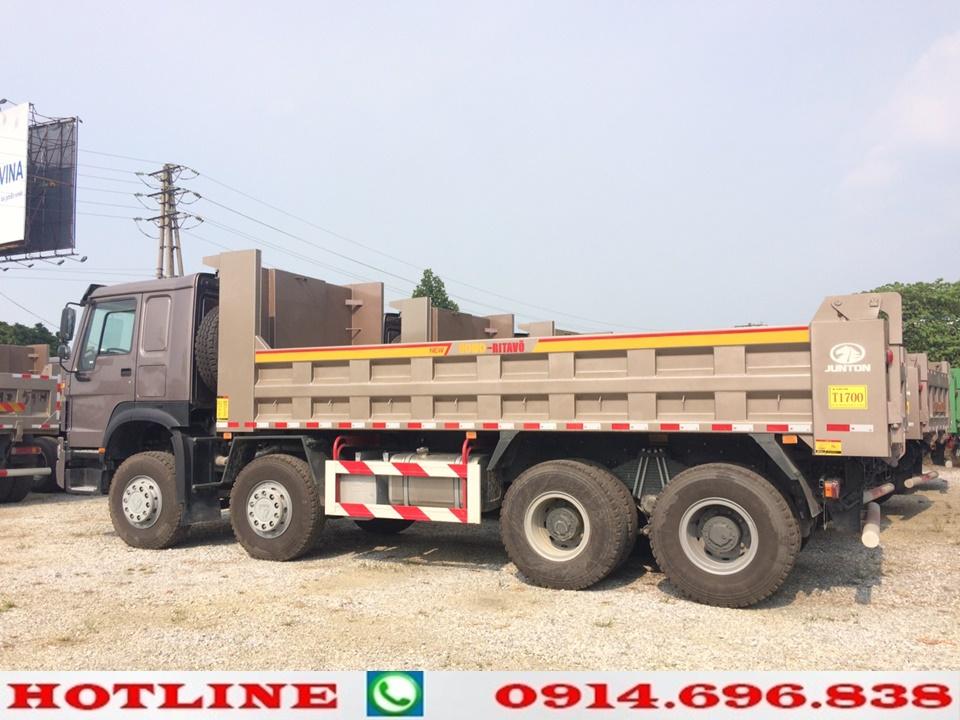 xe ben thùng vuông howo dài 6.4m